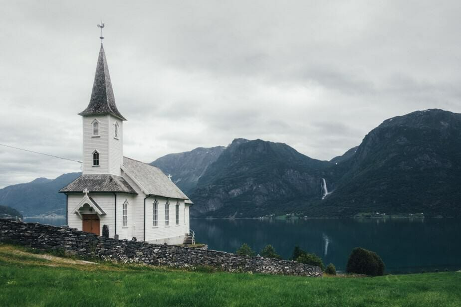 Typical christianity church in Norway