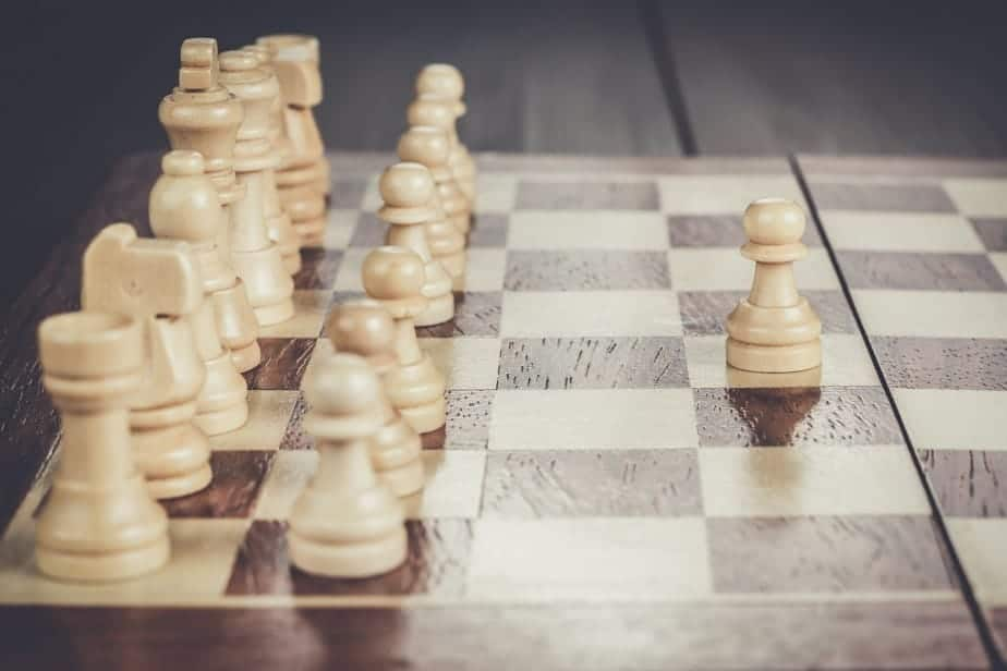 chess leadership concept on the chessboard